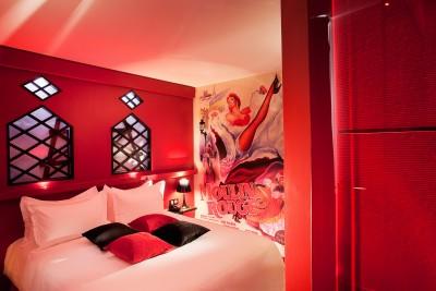 Chambre Moulin Rouge - Hotel Design Secret de Paris