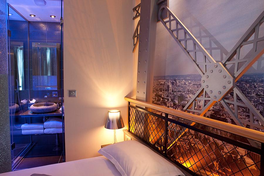 Chambre Tour Eiffel, Hotel Design Secret de Paris